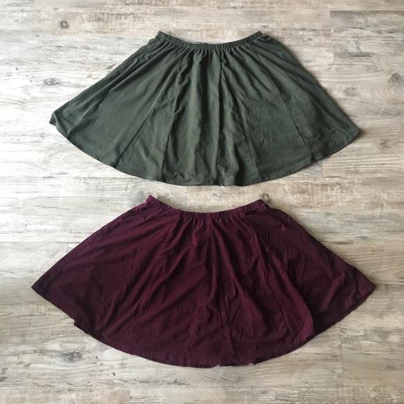 Brandy Melville Dresses & Skirts - BRANDY MELVILLE | SANNY CIRCLE SUEDE SKIRT BUNDLE